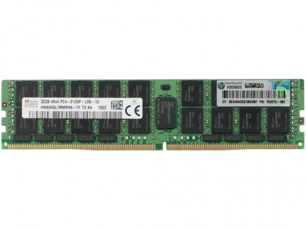 HPE 32GB 4Rx4 PC4-2133P-L-10 Dimm, 726722-B21, 752372-081