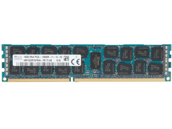 Dell 16GB DDR3 RAM 2Rx4 PC3L-12800R Low Power REG Dimm, 20D6F