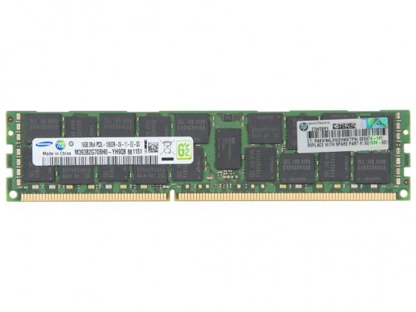 HPE 16GB DDR3 AMD RAM 2Rx4 PC3L-10600R-9 REG Dimm, 627808-B21, 628974-181