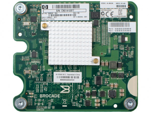 HPE FC-HBA Dual Port 8GB Brocade 804 PCI-E, 590647-B21