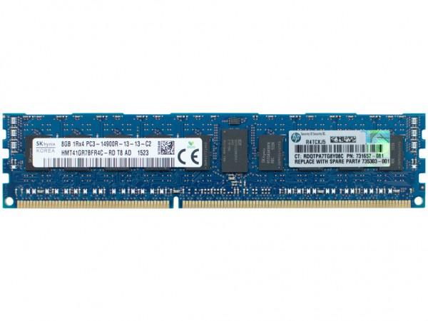 HPE 8GB 1Rx4 PC3-14900R-11 Dimm, 731761-B21