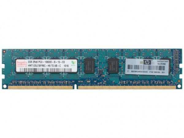 HPE 2GB DDR3 RAM 2Rx8 PC3-10600E-9 Dimm, 500670-B21, 500209-061