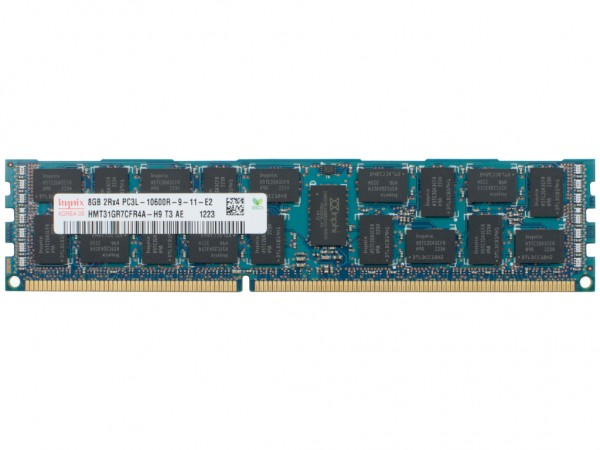 Dell 8GB DDR3 RAM 2Rx4 PC3L-10600R-9 REG Dimm, P9RN2