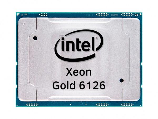 Intel Xeon Gold 6126 Dodeca Core CPU 2.6GHz, 19,25MB Cache, SR3B3