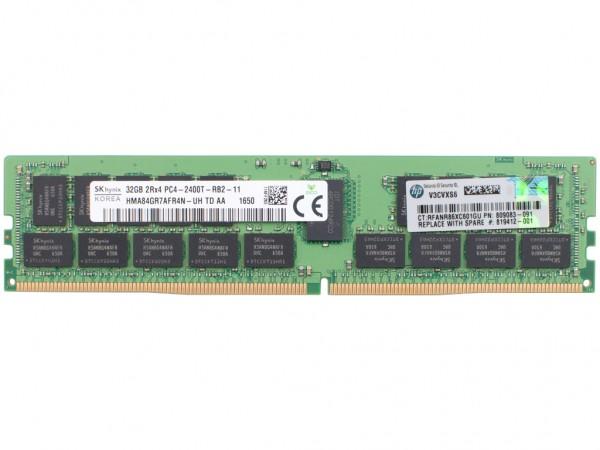 HPE 32GB DDR4 2Rx4 PC4-2400T-11 Dimm, 805351-B21, 809083-091