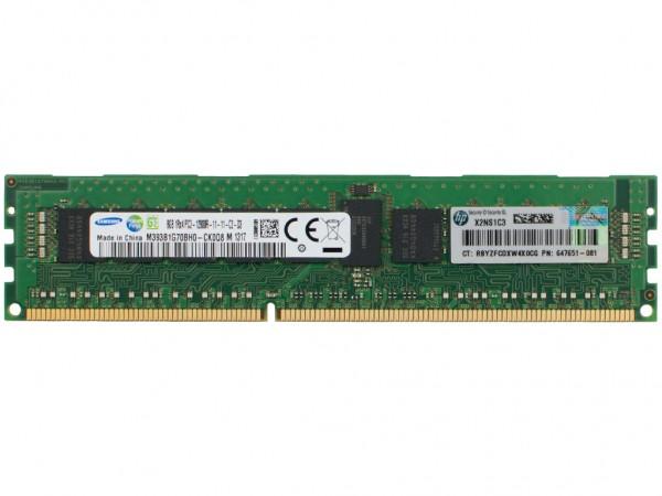 HPE 8GB DDR3 RAM 1Rx4 PC3-12800R-11 REG Dimm, 647899-B21, 647651-081