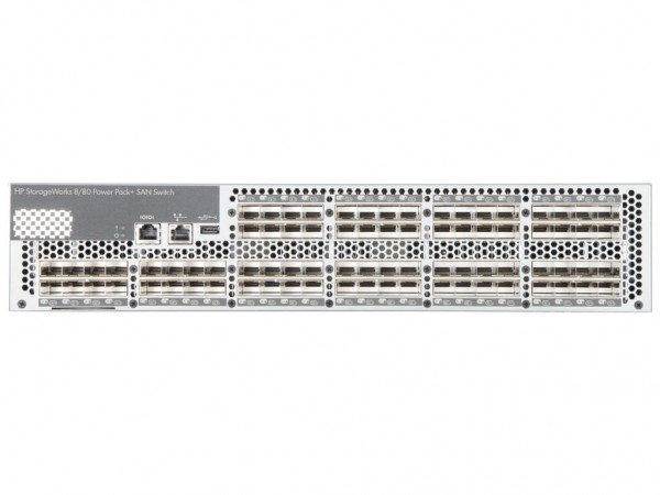 "HPE StorageWorks SAN Switch 8/80 PowerPack+, inkl. 19"" Railschienen, AM872A"