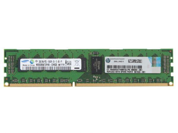 HPE 2GB DDR3 RAM 2Rx8 PC3-10600R-9 REG Dimm, 500656-B21, 500202-061, 501533-001