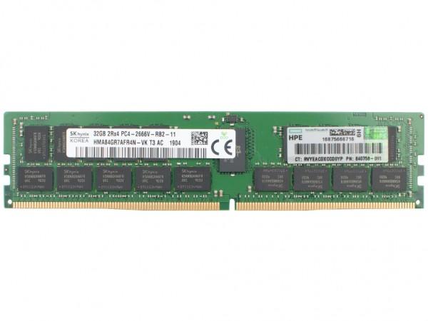 HPE 32GB DDR4 RAM 2Rx4 PC4-2666V Registered Dimm, 815100-B21, 840758-091
