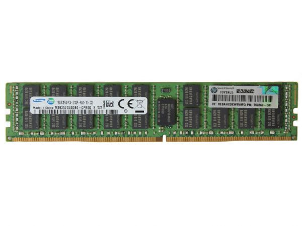 HPE 16GB DDR4 RAM 2Rx4 PC4-17066R-10 Registered Dimm, 726719-B21, 752369-081
