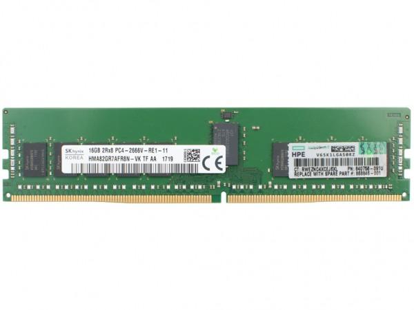 HPE 16GB DDR4 RAM 2Rx4 PC4-2666V Registered Dimm, 835955-B21, 868846-001