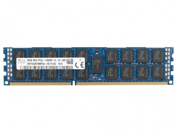 SK Hynix 32GB DDR3 RAM 4Rx4 PC3L-10600R-9 Registered Dimm, HMT84GR7BMR4A