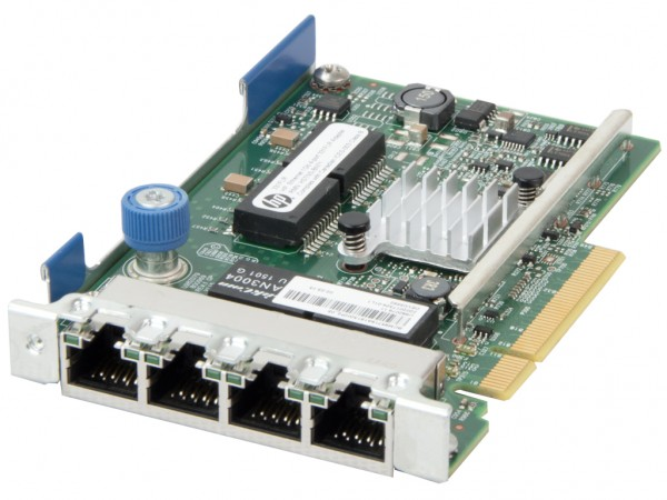 HPE Quad Port 1Gb 331FLR PCI-E LOM Netzwerkkarte / Server Adapter, 629135-B22