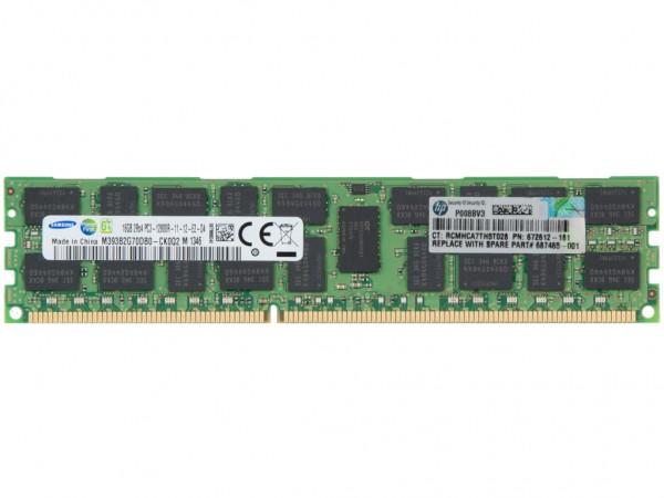 HP 16GB DDR3 AMD RAM 2Rx4 PC3-12800R REG Dimm, 672633-B21, 672612-181