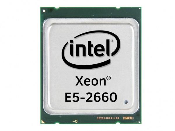 Intel Xeon E5-2660 Octa Core CPU 8x 2.20 GHz, 20MB Cache, Socket FCLGA2011, SR0KK