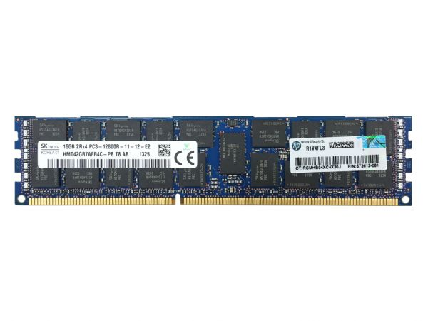 HPE 16GB DDR3 RAM V2 PC3L-12800R-11 REG Dimm, 713985-B21, 713756-081