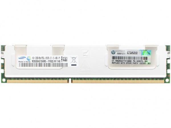 HPE MEM 32GB 4Rx4 PC3L-8500R-7 Dimm, 627814-B21, 628975-081