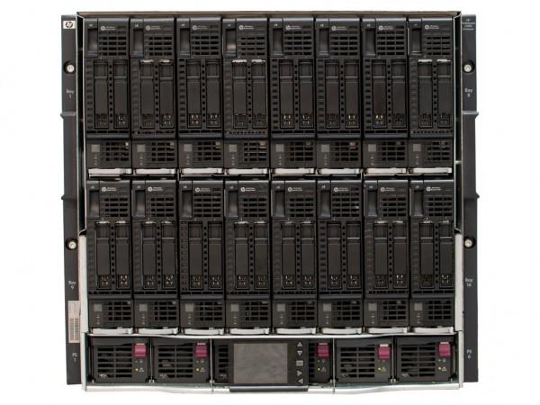 HPE Enclosure C7000 G2 BladeCenter, inkl. 6x PSU, 16x BL460c G8